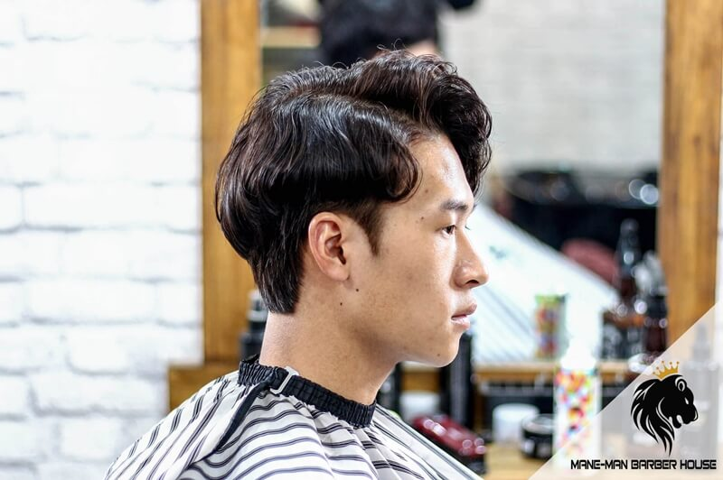 Kiểu tóc side part uốn Hàn Quốc