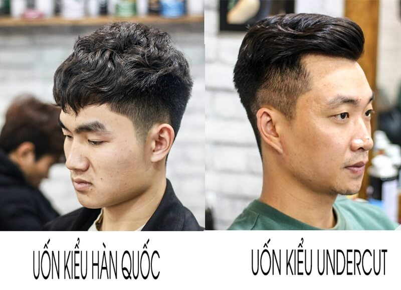 Uốn tóc kiểu undercut hàn quốc