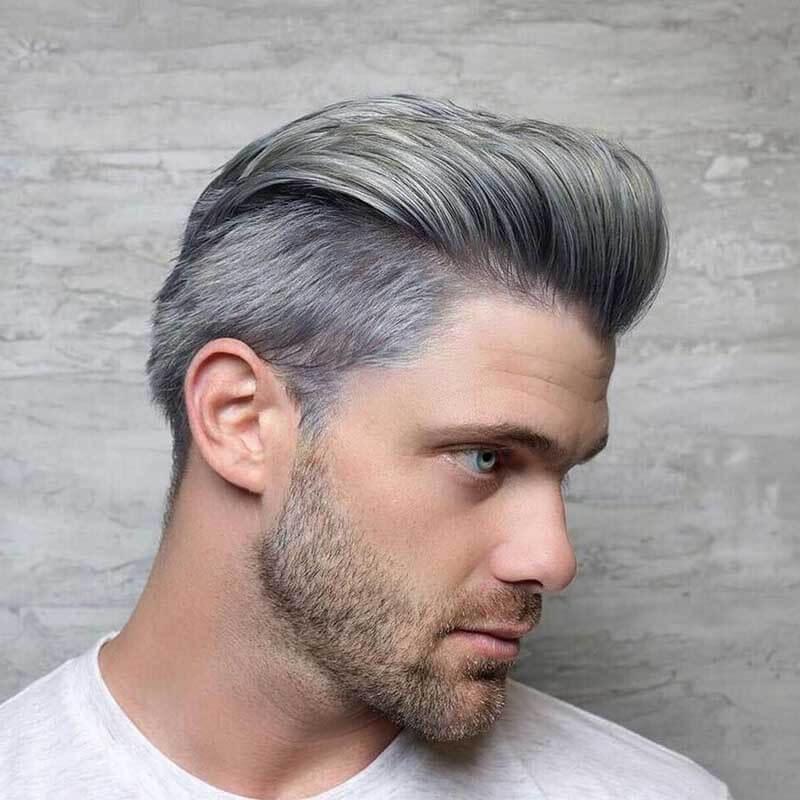 Nhuộm tóc màu xám tro