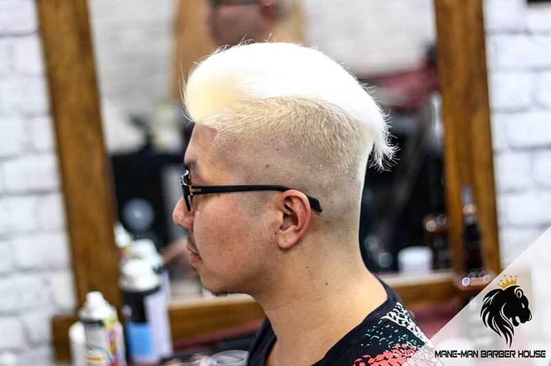 Nhuộm tóc nam màu bạch kim 2020