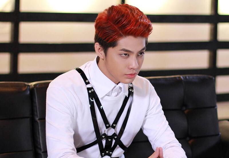 Nhuộm tóc nam màu nâu đỏ