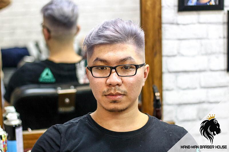 Nhuộm tóc nam màu xám khói