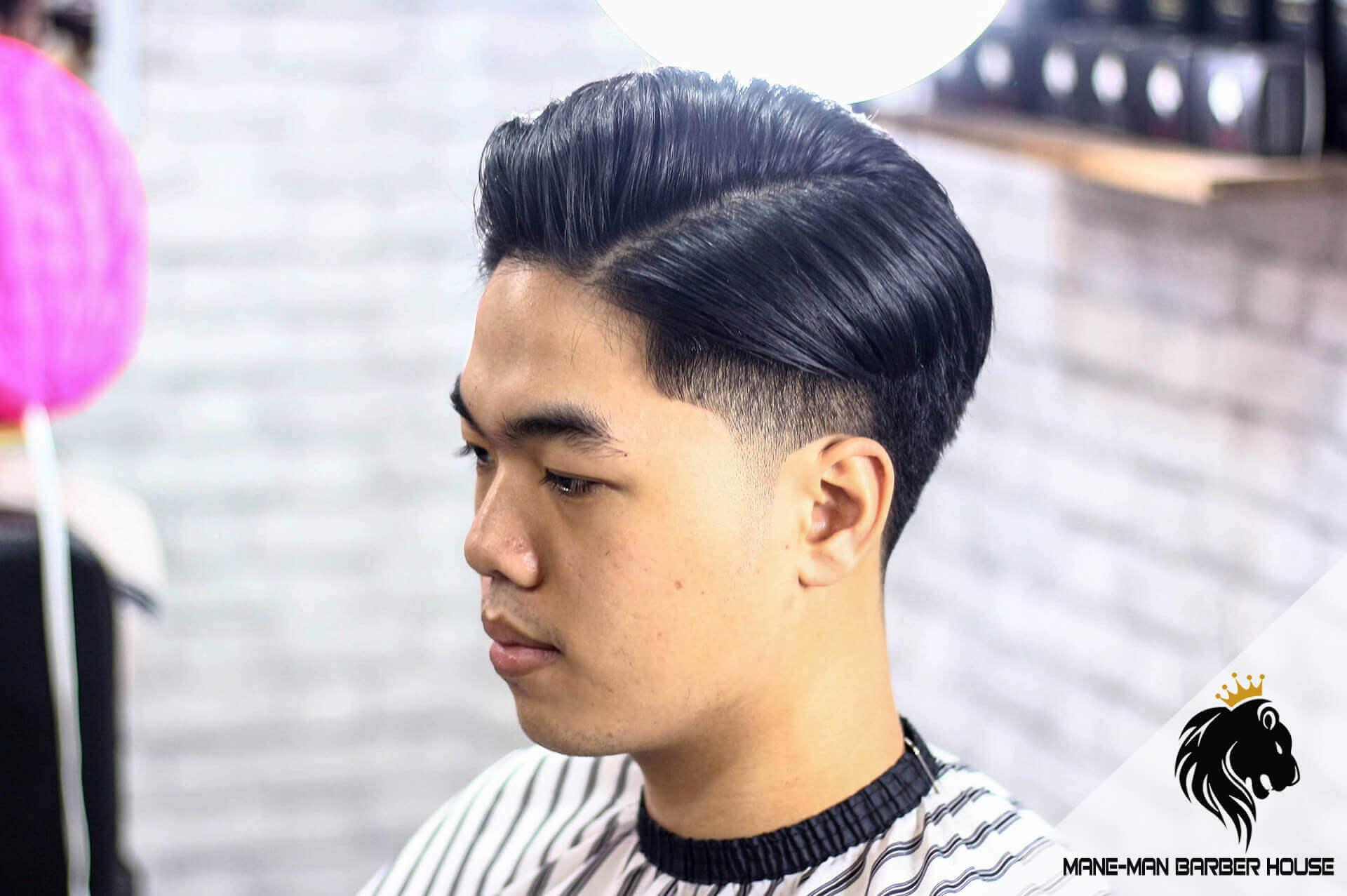 Kiểu tóc Side part dài