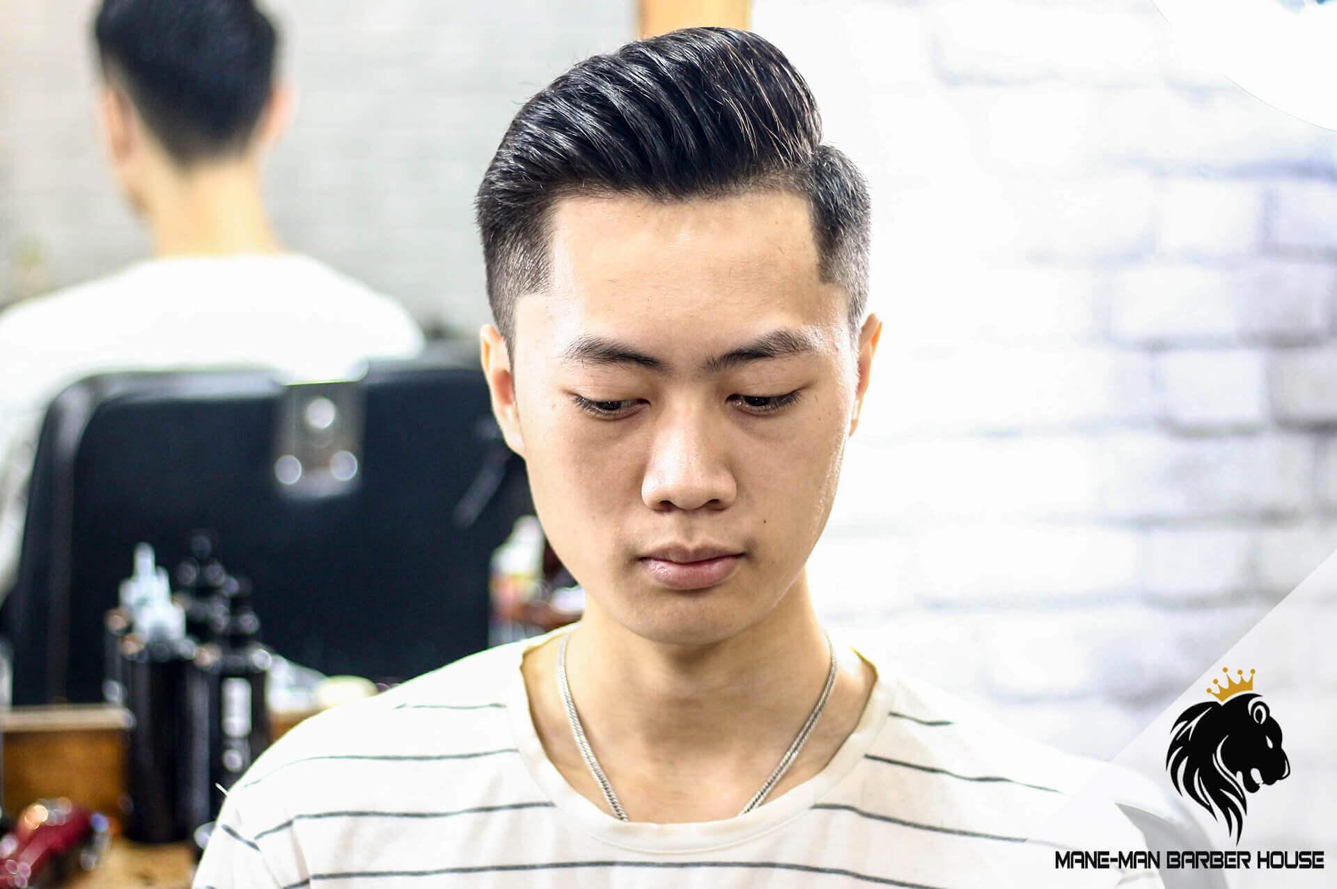 tóc nam Side part dài