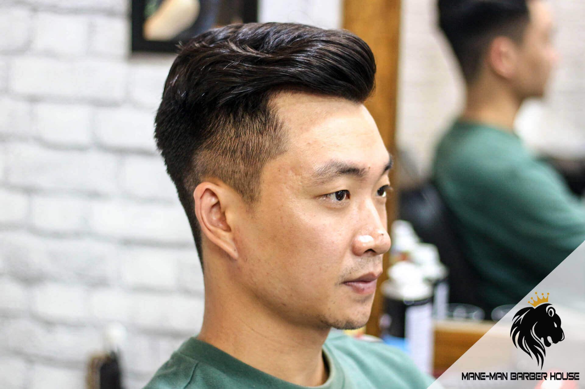 kiểu tóc Undercut ngắn Textured