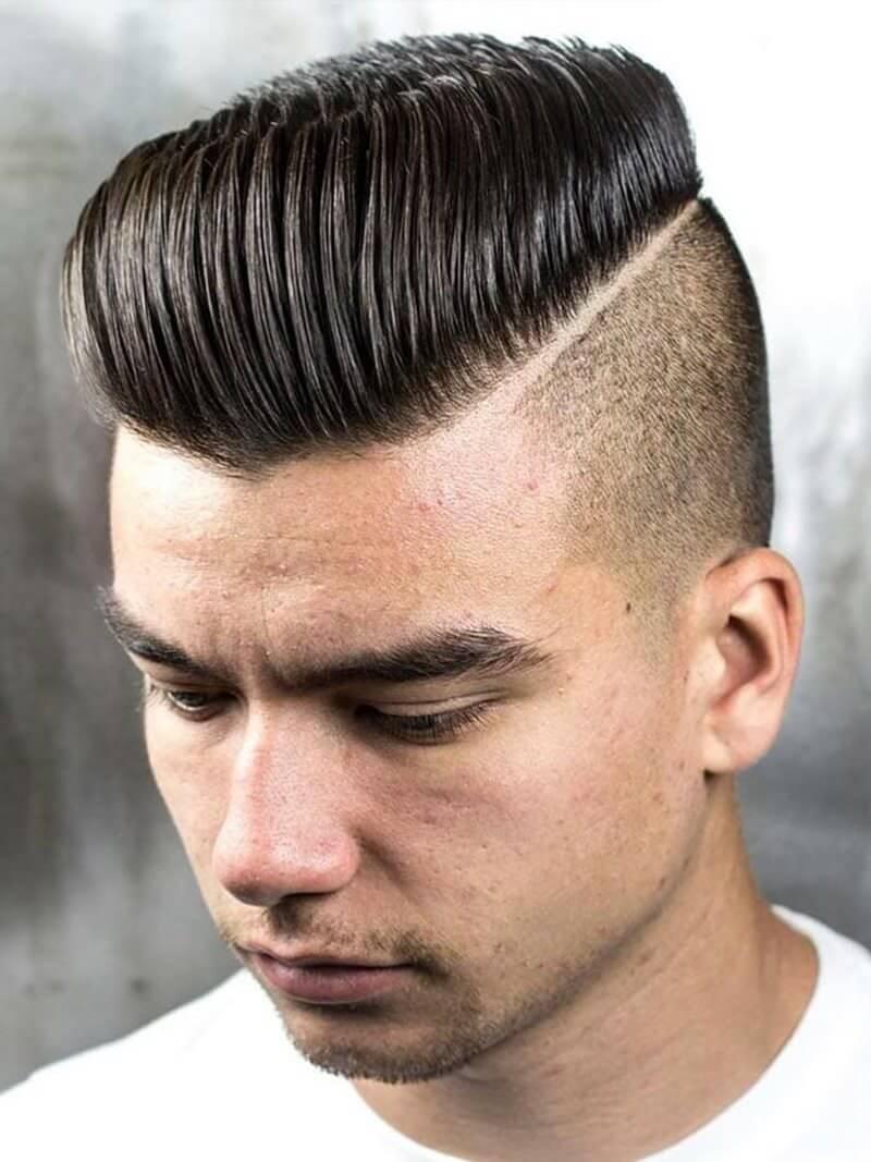 tóc pompadour vuốt dựng