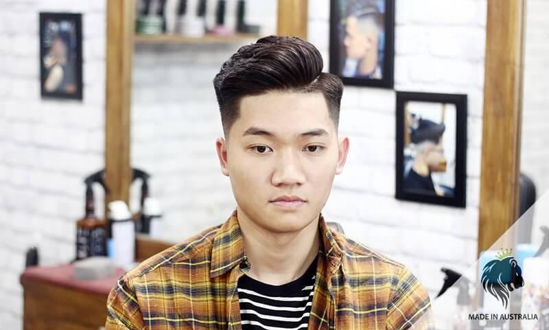 tóc nam side part kiểu Hàn Quốc