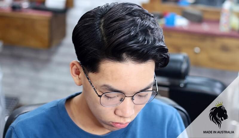kiểu tóc đẹp bổ luống