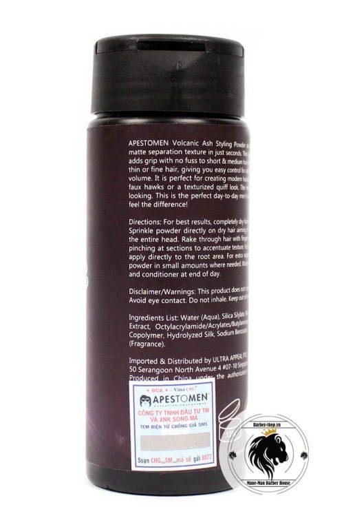 Sáp vuôt tóc volcanic clay ash