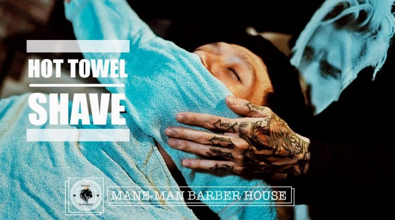 hot towel shave tại mane-man barber